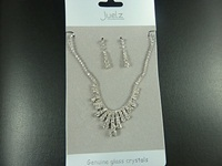  Pyramid Necklace and Earrings Set